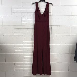 New ABS Allen Schwartz SZ S Burgundy Gown